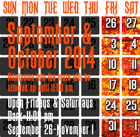 2014 Dates & Hours of Operation - Click for Details